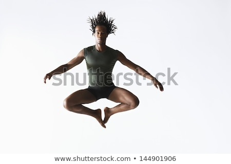 Jonge balletdanser lucht portret vrouwelijke springen Stockfoto © julenochek