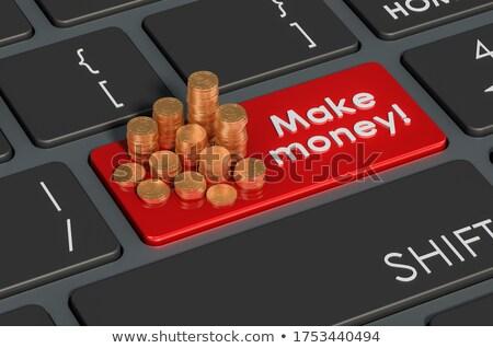 赤 お金 キーパッド キーボード 3次元の図 ストックフォト © tashatuvango