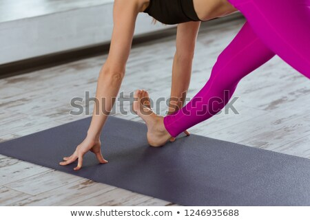 Female feet on a bamboo mat.  Stock photo © Nobilior