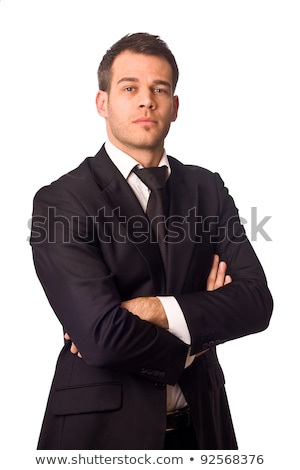 Pensive Businessman with Arms Crossed Stock photo © filipw