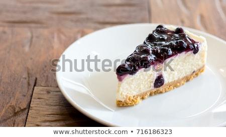 cheesecake · dilim · beyaz · restoran - stok fotoğraf © karaidel