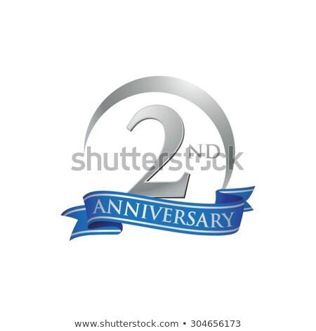 Blauw · lint · solidariteit · bewustzijn · symbool · schaduw - stockfoto © olena