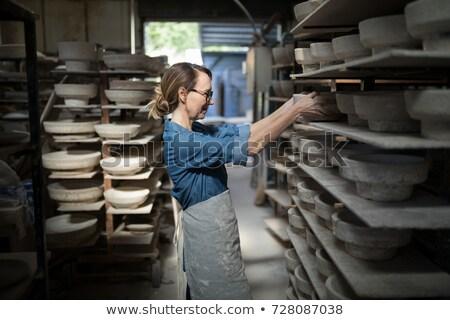 Női termék polc cserépedények műhely üzlet Stock fotó © wavebreak_media