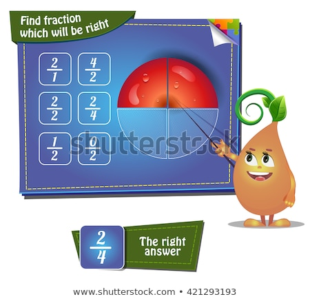 Find faction which will be right. apple part Stock photo © Olena