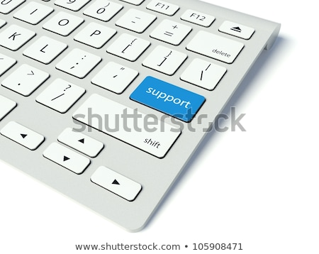 Blue Solution Key on Keyboard. 3D. Stock photo © tashatuvango