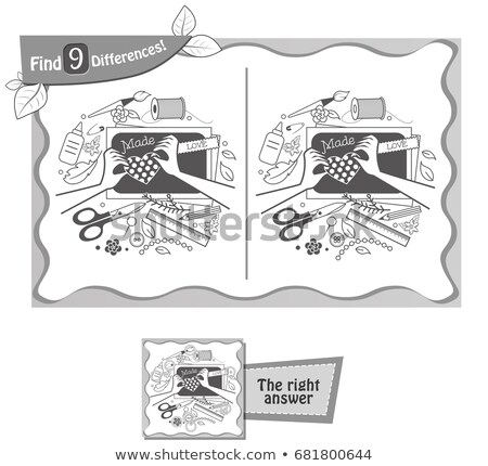 game find 9 differences hand maid Stock photo © Olena
