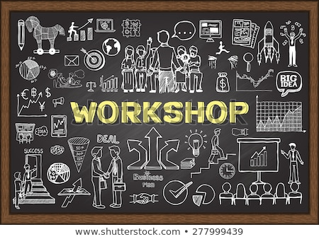 Business Skills - Doodle Illustration on Blue Chalkboard. Stock photo © tashatuvango