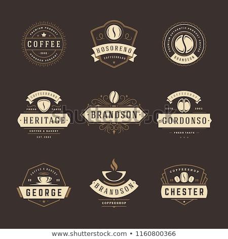 コーヒー · ラベル · バッジ · コレクション · ベクトル · デザイン - ストックフォト © genestro