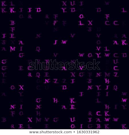 Stok fotoğraf: Ikili · kod · soyut · vektör · renk · metin