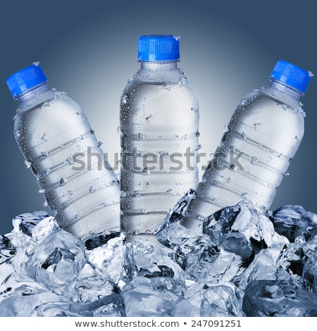 water bottle dropplets 3 stock photo © deanh