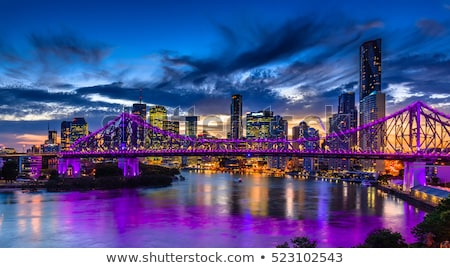Brisbane river reflection at night time. Stock photo © artistrobd