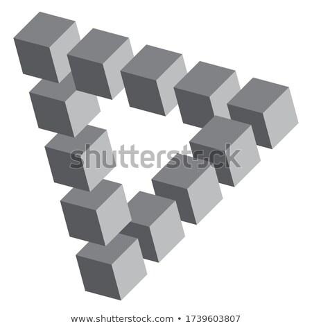 impossibile · triangolo · illusione · ottica · moderno · concetto · figura - foto d'archivio © psychoshadow