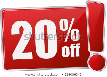 red 20 discount sign isolated on white background stock photo © lenapix