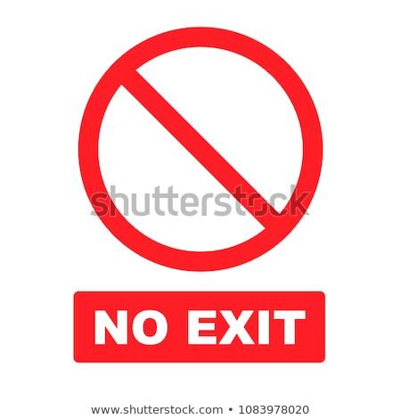 Nem kijárat jelzés fehér Stock fotó © devon