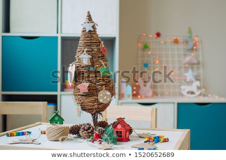 Making a wooden Christmas tree Stock photo © andreasberheide