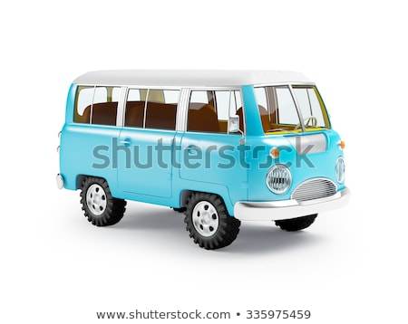 rare vintage camper van stock photo © anna_om