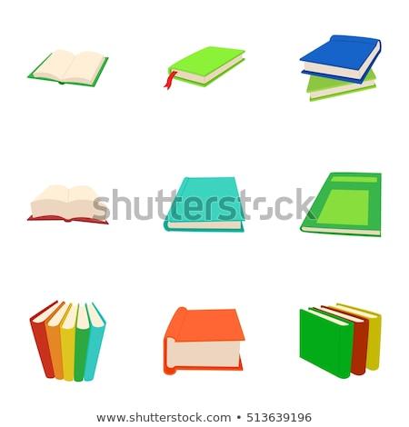 vektör · renkli · kitaplar · broşür · yalıtılmış - stok fotoğraf © bluering