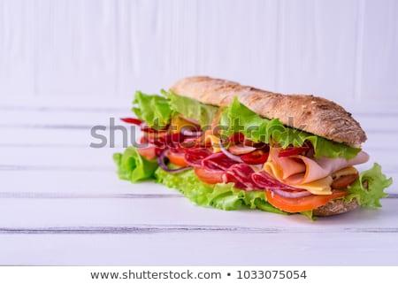Dos frescos tabla de cortar alimentos pan Foto stock © Digifoodstock