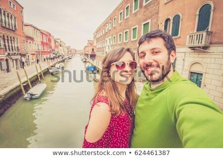 Сток-фото: пару · ходьбе · Венеция · Италия · любви · человека