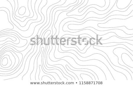 Bruin kaart abstract patroon tekening camping Stockfoto © SArts