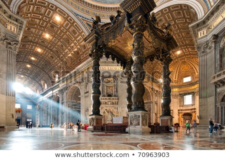 Interior of church. Rome , Italy Stock photo © joyr