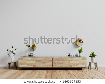 Flat-TV standing on the commode in the room Stock photo © boggy