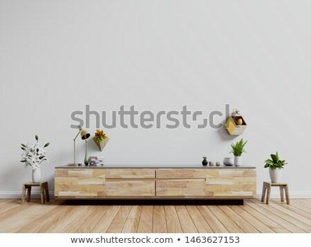 широкий · экране · телевидение · комнату · небе - Сток-фото © boggy