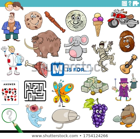 words starting with m illustration stock photo © bluering