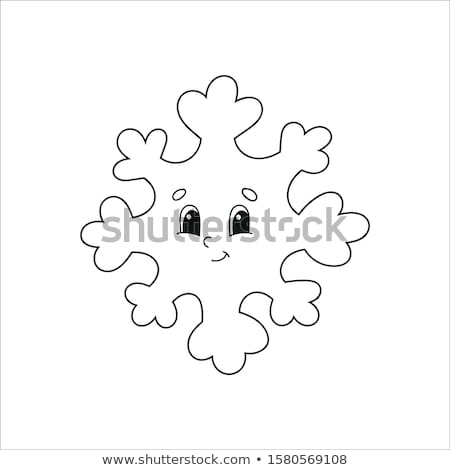 Snowflake Silhouette Colorless Vector Illustration Stock photo © robuart