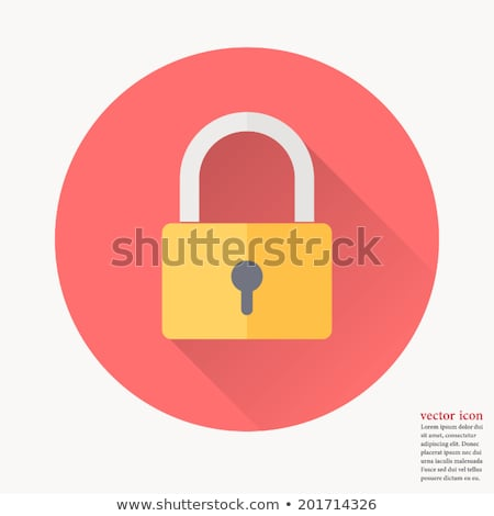 safe lock flat icon stock photo © biv