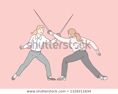 Two women standing with swords Stock photo © IS2
