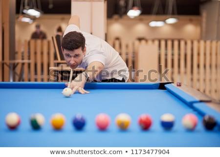 Férfi játszik snooker Európa úszómedence fiatalember Stock fotó © IS2