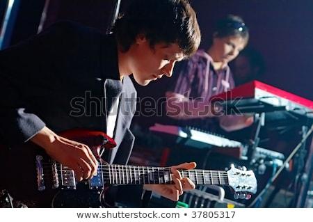Kettő elektromos gitár játékosok jókedv Európa áll Stock fotó © IS2