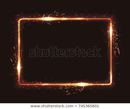 Yangın çerçeve örnek vektör sanat kırmızı Stok fotoğraf © yo-yo-