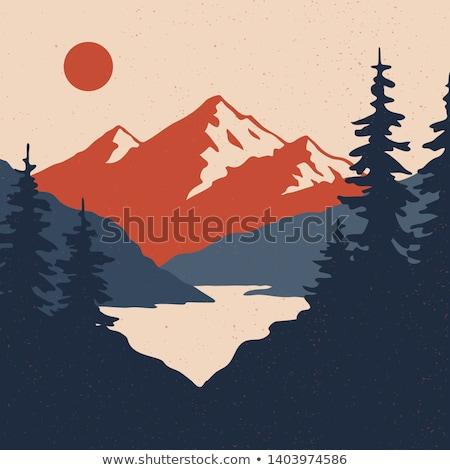schilderachtig · landschap · berg · top · bergen · panorama - stockfoto © kotenko