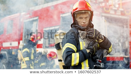 Homem trabalhar bombeiros emergência ilustração par Foto stock © lenm