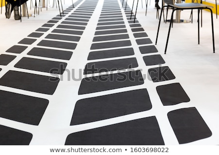 Black and grey abstract background with outline of squares, simple vector illustration Stock photo © kurkalukas