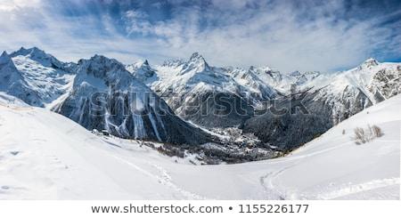 caucasus mountains dombay stock photo © bsani
