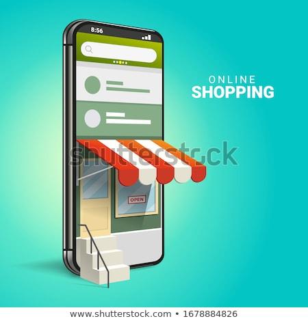 izometrikus · vásárlás · online · kütyük · illusztráció · felhasználók - stock fotó © RAStudio