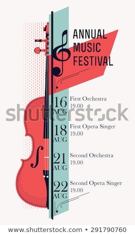 плакат · концерта · классическая · музыка · скрипки · коричневый · цвета - Сток-фото © Natali_Brill