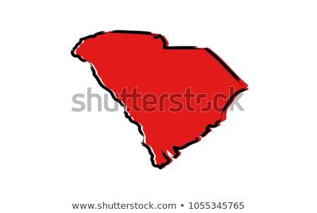 漫画 サウスカロライナ州 実例 笑みを浮かべて グラフィック アメリカ ストックフォト © cthoman