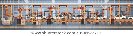 Control on Manufacture Line Vector Illustration Stock photo © robuart