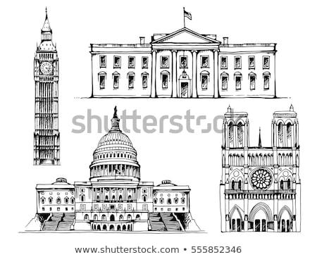 Capitolium · épület · sziluett · Washington · DC · USA · sziluett - stock fotó © robuart