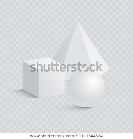 Piccolo cubo prisma sfera 3D forme Foto d'archivio © robuart