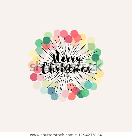 Christmas decoration with pastel colored pom pom rosette Stock photo © isveta