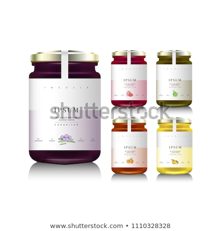 Fruit Citrus and Berry Conserve Jars with Labels Stock photo © robuart