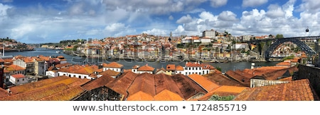 luchtfoto · Portugal · skyline · oude · binnenstad · daglicht · water - stockfoto © joyr