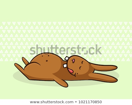 Cartoon Easter Bunny illustratie dutje baby Stockfoto © cthoman