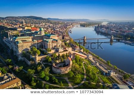 Keten brug donau rivier Boedapest zomer Stockfoto © Givaga