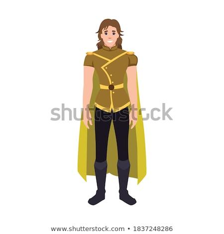 Cartoon Smiling Robin Hood Man Stock photo © cthoman